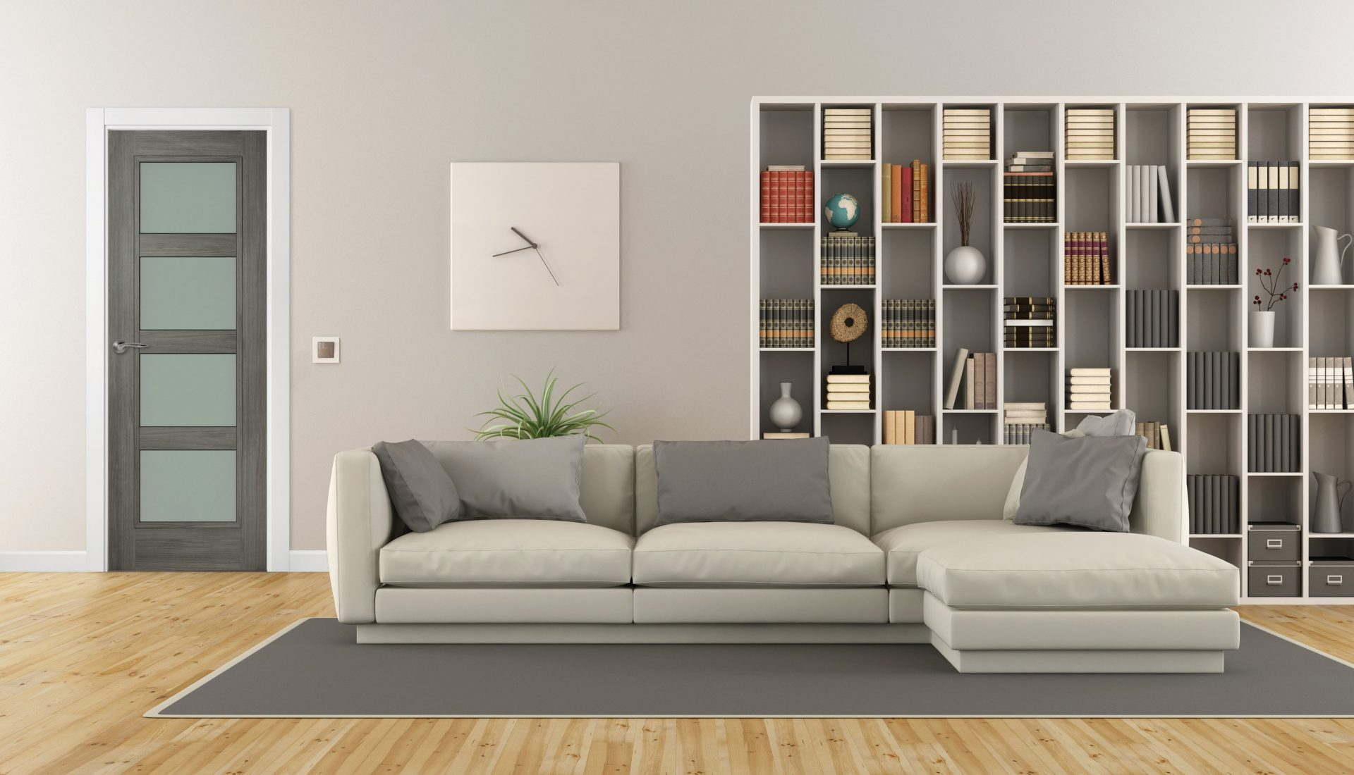 Contemporary living with grey 4p