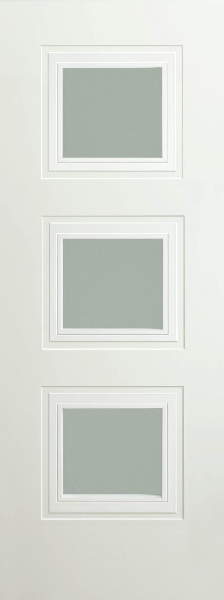 Bergerac 3p white opal laminate glass